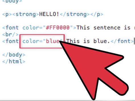 Color Text Html How To Use Font Color Tags In Html With Sle Html.html