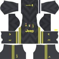 dls 19 juventus gk third kit f c juventus 2018 19 league soccer kits logo 512x512