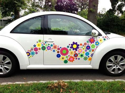 vw beetle funky hippie flower decals stickers http
