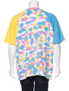 pink and blue bape shirt bape printed t shirt clothing wbape20008 the realreal