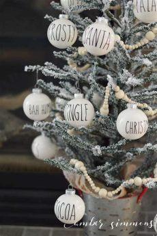 rae dunn christmas tree dunn inspired ornament diy