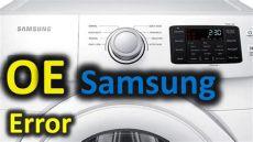 error 0e oe error code solved samsung front loading washer washing machine 0e