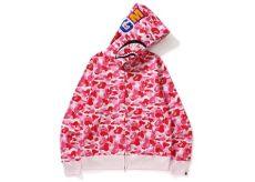 bape abc shark zip hoodie pink - Bape Hoodie Shark Pink