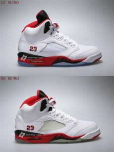air jordan 5 fire red 2006 air v retro quot quot 2006 vs 2013 comparison sneakernews