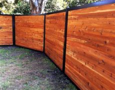 metal frame for wooden fence metal frame fence kits outlasts wood fencetrac by perimtec
