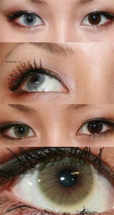 solotica contacts on dark eyes solotica hidrocor lenses in light gray and mel honey on brown eye color
