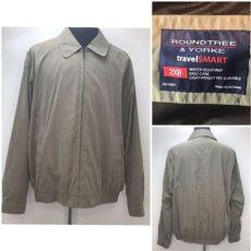 roundtree and yorke travel smart jacket s roundtree yorke travel smart water resistant lightweight jacket 2xb ebay