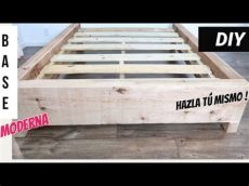como hacer una base de madera para cama king size como hacer una base moderna de madera facil de hacer