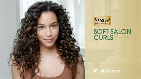 salon soft defined curls suave professionals youtube