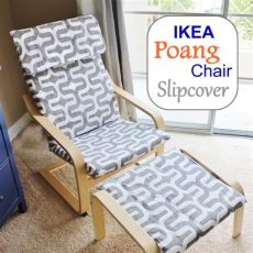 13 easy and fast diy ikea poang chair hacks shelterness - Poang Chair Cover Diy