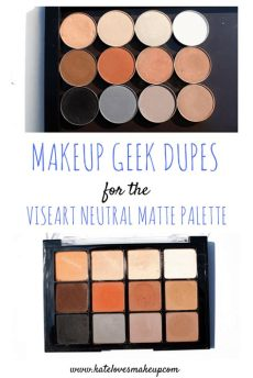 viseart neutral matte palette dupe makeup dupes viseart neutral matte palette kate makeup