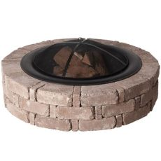 fire pit mat home depot pavestone rumblestone 46 in x 10 5 in concrete pit kit no 1 in cafe rsk50169 the