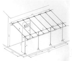 simple awning plans build a simple awning frame with kee kl fittings projects to try backyard