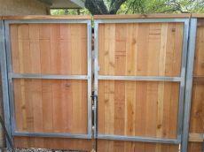 custom wood fence tx horizontal cedar picket fences fence inc - Metal Frame For Wooden Fence