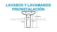 lavabos y lavamanos altura de desag 252 e y tomas de agua preinstalaci 243 n de lavabos - Altura De Tuberia Para Lavamanos