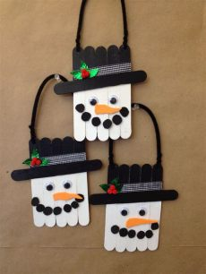 diy craft stick santa snowman craft for kids snowmen made with craftsticks or tongue depressors with images