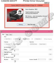 resolve error 5b02 canon mx377 solusi printer anda cara reset canon mx377 printer error occured 5b02