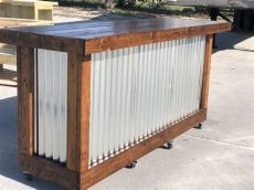 plank provincial 8 rustic style corrugated metal wood outdoor covered or indoor - Corrugated Metal Outdoor Bar