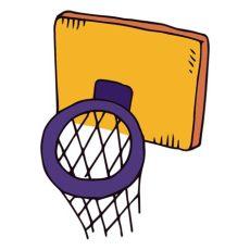canasta de basquetbol dibujo png canasta de baloncesto de dibujos animados descargar png svg transparente