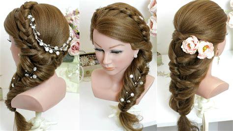 2 cute easy hairstyles long hair tutorial youtube