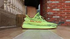 yeezy 350 v2 semi frozen yellow on foot version yeezy 350 boost v2 semi frozen yellow on foot review