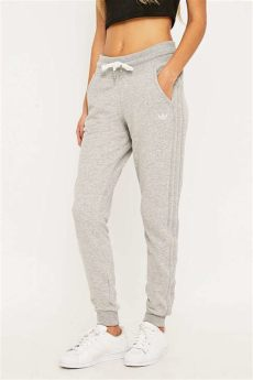 adidas slim grey tracksuit bottoms in grey lyst - Grey Adidas Tracksuit Bottoms Womens