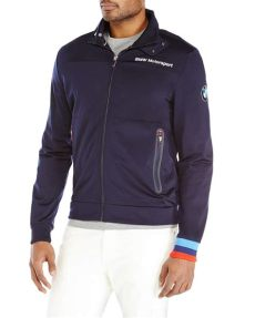 bmw motorsport jacket puma lyst navy bmw motorsport track jacket in blue for