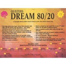 quilters 80 20 blend cotton poly batting size white color ebay - Quilters Dream 80 20 Batting