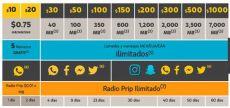 recarga att 150 pesos at t unefon ofrecen instagram y snapchat ilimitado poderpda