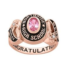 rose gold foosites grade school freestyle class rings personalized gold celebrium sweetheart class ring with