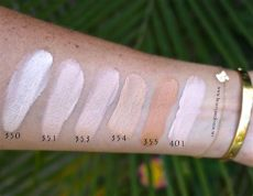 decorte soft creme foundation swatches professor spotlight on decorte swatches of every product in the line