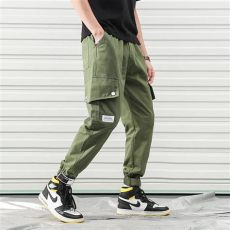 cheap techwear pants japan streetwear mens cargo with pockets elastic waist plain cargo for