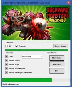 backyard monsters unleashed hack online 2020 solved download
