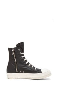 rick owens ramones sneakers lyst drkshdw by rick owens coated canvas ramones sneakers in black