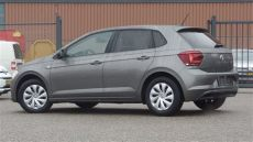 limestone gray polo volkswagen new polo 2018 comfortline limestone grey metallic walk around inside outside
