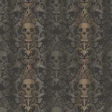 sand skull damask wallpaper chesapeake tot47111 luther sand skull modern damask wallpaper
