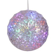 outdoor christmas ball ornaments 30 led lights lighted pre lit hanging ornament outdoor yard decor ebay