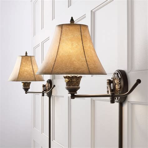 barnes ivy swing arm wall lights plug set