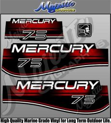 mercury outboard decals mercury 75hp outboard decals ebay