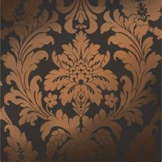 camden damask wallpaper charcoal copper shimmer metallic grande damask wallpaper charcoal copper ilw261621 from henderson interiors uk