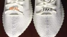 yeezy cream white fake check comparison on the and real yeezy 350 v2 white check 5 points below