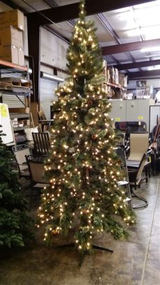 martha stewart living 9 ft prelit led alexander 9 pre lit pine set tree w