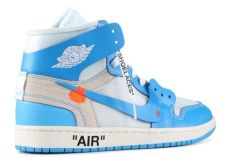 nike air jordan 1 off white blue white air 1 retro high blue unc kickstw