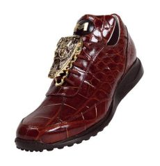 mauri gators shoes mauri mogul 8731 rust genuine all alligator sneakers with big gold alligator on