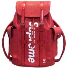 supreme louis vuitton backpack price autre marque louis vuitton x supreme backpacks backpacks leather ref 43836 joli closet