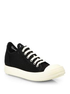 rick owens ramones canvas lyst drkshdw by rick owens ramones mesh canvas platform sneakers in black
