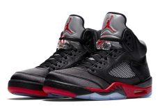 air 5 satin black 136027 006 official images sneakernews - Nike Air Jordan 5 Satin