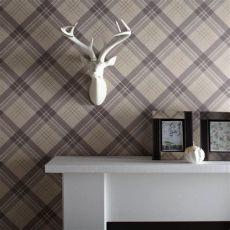 graham brown arthouse vintage fairburn tartan check pattern textured vinyl wallpaper 252703 - Graham And Brown Tartan Wallpaper
