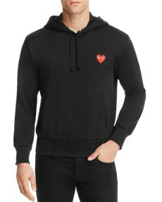 comme des garcons play sweat shirt lyst comme des gar 231 ons play play sweatshirt in black save 3 7037037037037095