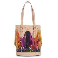 louis vuitton multicolor bucket bag louis vuitton multicolor fringe bag black 47620